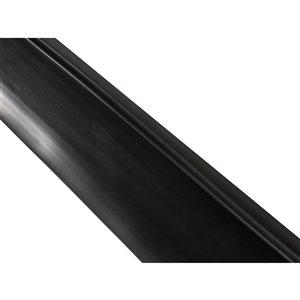 Seuil de porte de garage NewAge, 20 pi, noir