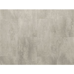 NewAge Products Stone Composite Luxury Vinyl Tile - 9.5 mm - 13.44 sq ft - Titanium - 7-Pk