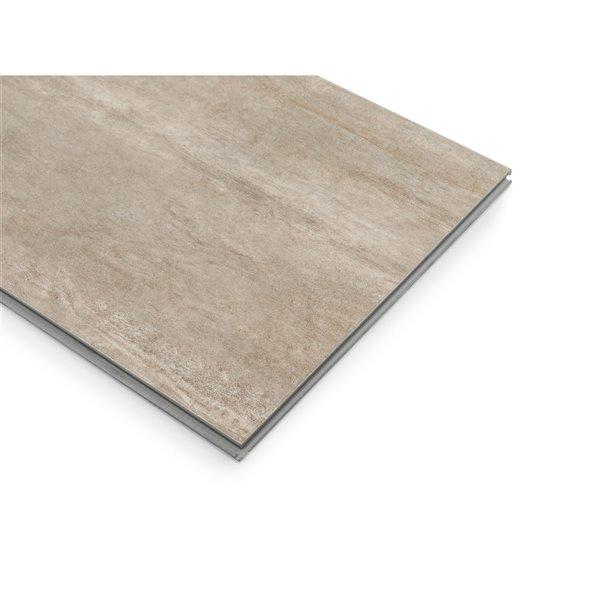 NewAge Products Stone Composite Luxury Vinyl Tile - 9.5 mm - 13.44 sq ft - Sandstone - 7-Pk