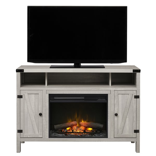 Dimplex Sadie Media Console with Electric Fireplace - Silver - 43-in