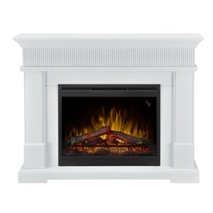 Dimplex Jean 49-in Mantel Electric Fireplace - Glossy White