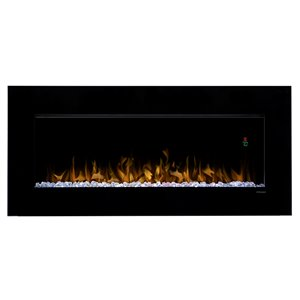 Dimplex Nicole Wall mounted Fireplace - Gloss Black - 43-in