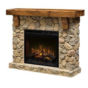 Dimplex Fieldstone Electric Fireplace Wall Mantel - 54.5-in