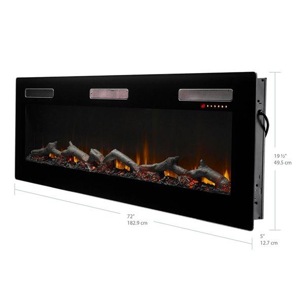 Dimplex Sierra Wall-mount Linear Electric Fireplace - 72-in