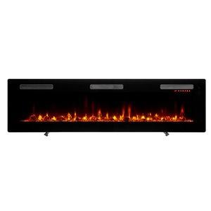 Dimplex Sierra Wall-mount Linear Electric Fireplace - 72-in