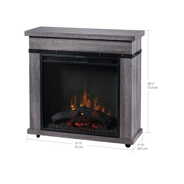 Dimplex Morgan Mantel with 23-in Electric Fireplace - Graphite