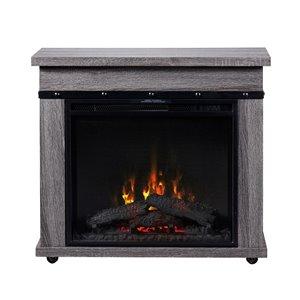 Manteau de cheminée avec foyer électrique de 23 po Morgan de Dimplex, gris