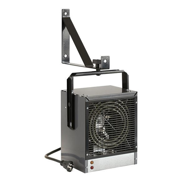 Dimplex Heavy-Duty Garage/Workshop Electric Heater and Built-in Thermostat - 4000 W - Grey