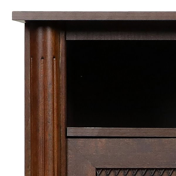 Dimplex Xavier 60-Inch TV Media Console Electric Fireplace - Brown