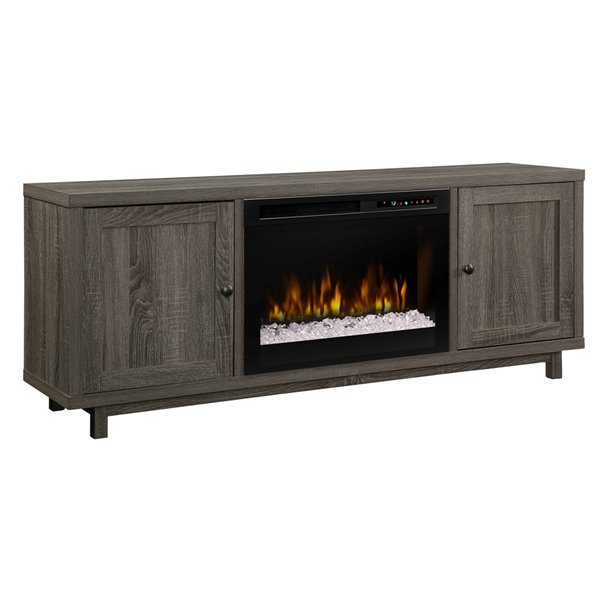 Dimplex Jesse 65-Inch TV Media Console Electric Fireplace - Iron Mountain Finish
