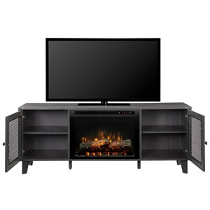 Dimplex Dean 65-in TV Media Console Electric Fireplace - Wrought Iron Finish