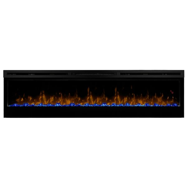 Dimplex Prism Electric Fireplace Wall-Mounted With Acrylic Ember Bed - 74-in