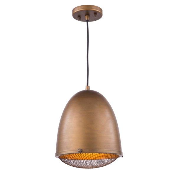 Luminaire suspendu à 1 lumière Retro Loft AC10311 d'Artcraft Lighting, 10,25 po x 12,5 po, bronze