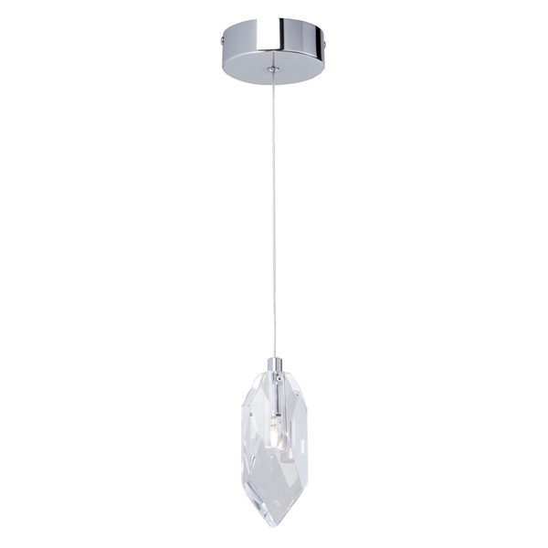 Artcraft Lighting Doccia AC7041 1-Light Chandelier - 4.75-in x 0-in - Chrome