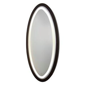 Miroir à éclairage DEL Valet SC13110 d'Artcraft Lighting, 28 po x 60 po, noir mat