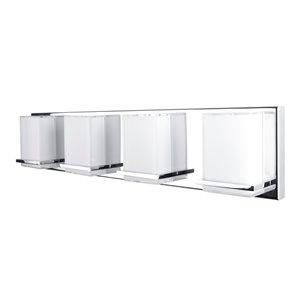 Luminaire de salle de bain à 4 lumières Tranquility AC7494 d'Artcraft Lighting, 26 po x 3 po x 5,5 po, chrome