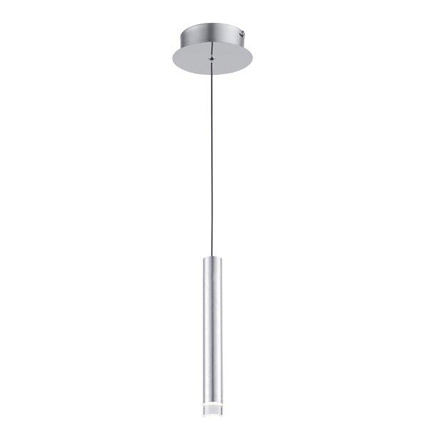 Luminaire suspendu à 1 lumière Galiano AC7082SA d'Artcraft Lighting, 1,5 po x 10 po, aluminium satiné