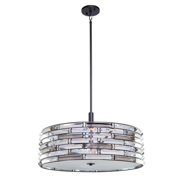Artcraft Lighting Vero AC11267 6-Light Chandelier - 24-in x 14-in - Black