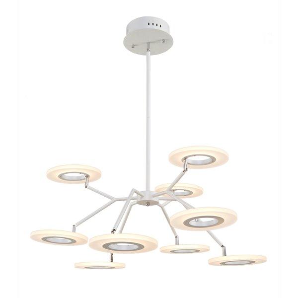 Artcraft Lighting Phoenix AC7070 9-Light Chandelier - 32.5-in x 18.5-in - White