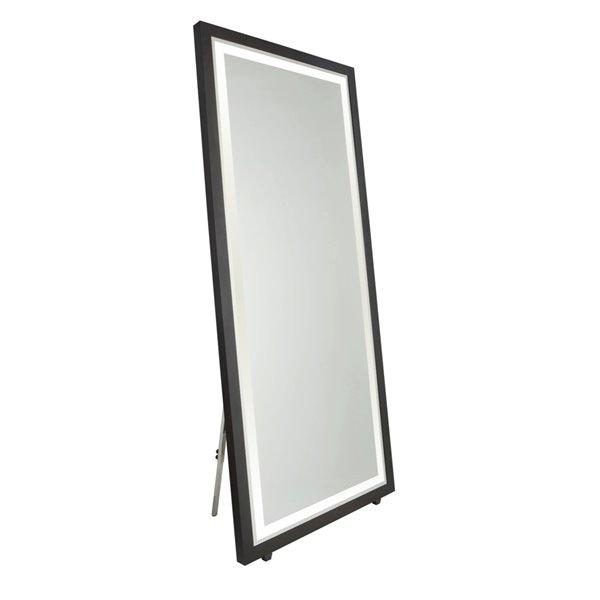 Artcraft Lighting Valet SC13108 LED Mirror - 36-in x 76-in - Matte Black