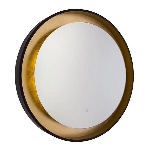 Artcraft Lighting Reflections AM304 LED Mirror - 31.5-in x 31.5-in - Oil Rubbed Bronze & Gold Leaf