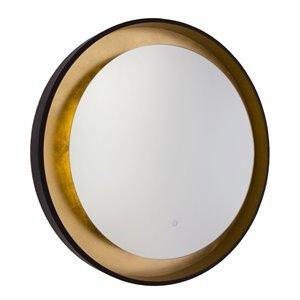 Miroir à éclairage DEL Reflections AM304 d'Artcraft Lighting, 31,5 po x 31,5 po, bronze huilé et doré