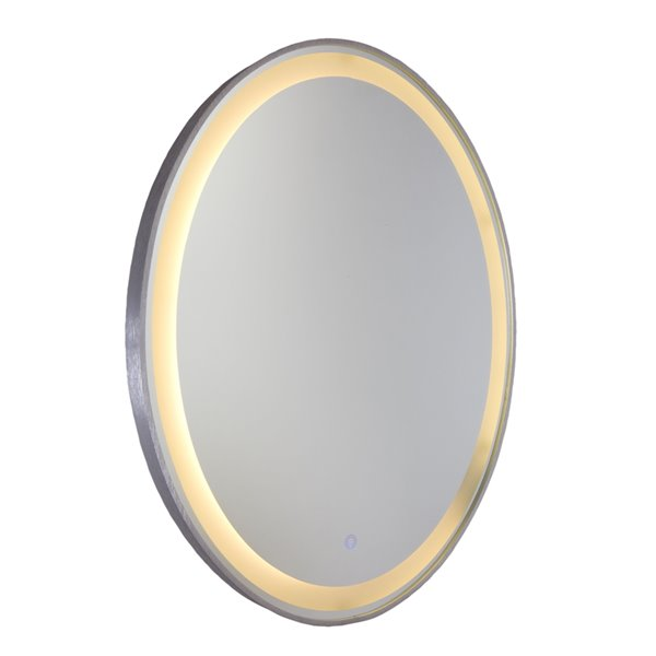 Artcraft Lighting Reflections AM300 LED Mirror - 23.5-in x 29.5-in - Brushed Aluminum