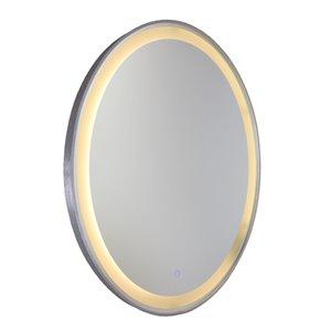 Miroir à éclairage DEL Reflections AM300 d'Artcraft Lighting, 23,5 po x 29,5 po, aluminium brossé