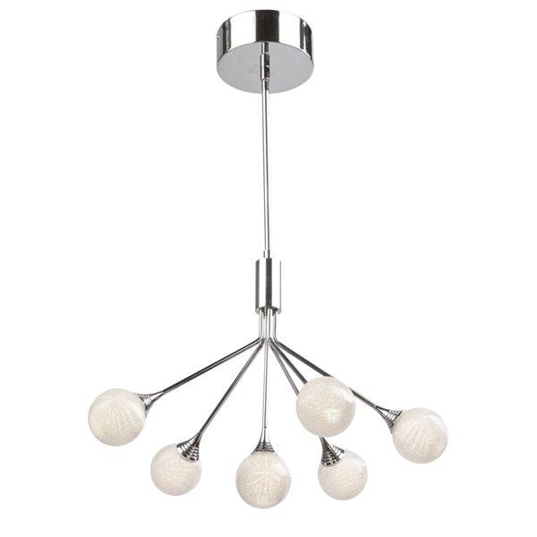 Chandelier à 6 lumières Odyssey AC7576 d'Artcraft Lighting, 19 po x 16 po, chrome poli