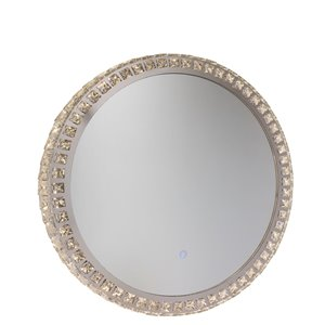 Artcraft Lighting Reflections AM302 LED Mirror - 24-in x 24-in - Crystal