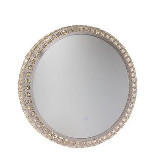 Miroir à éclairage DEL Reflections AM302 d'Artcraft Lighting, 24 po x 24 po, cristal