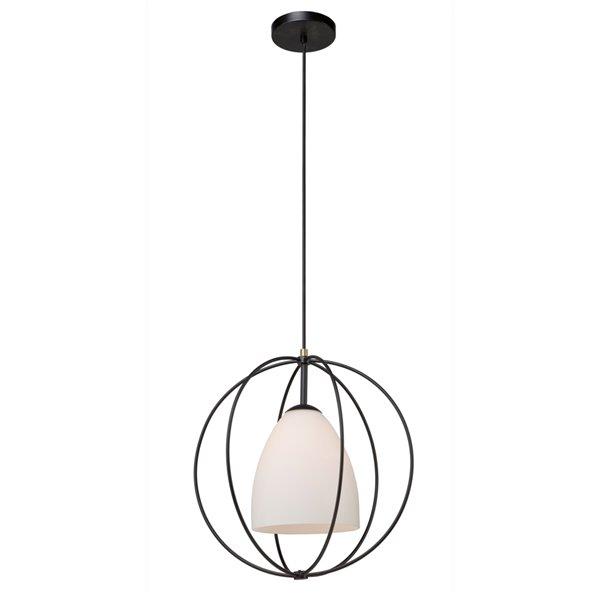 Artcraft Lighting Dewdrop SC13172 1-Light Pendant - 17-in x 18-in - Black
