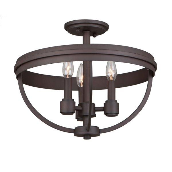 Artcraft Lighting Roxbury AC10693OB Semi-Flush Mount Light - 3-Light - Bronze