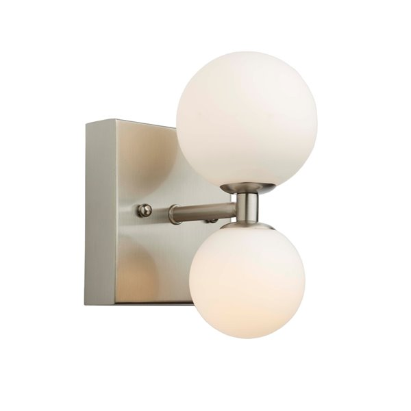 Artcraft Lighting Hadleigh AC6612 2-Bulb Wall Light - 8-in - Brushed Nickel
