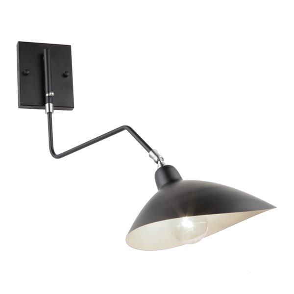 Artcraft Lighting Nero AC11217 1-Bulb Wall Light - 20-in - Black/White Interior
