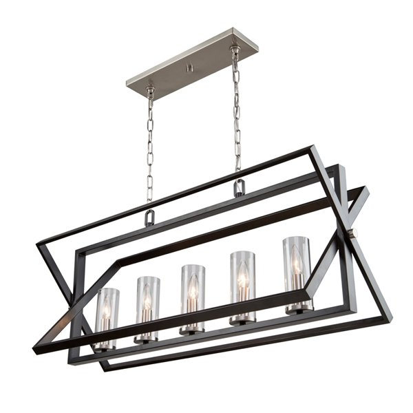 Artcraft Lighting Vissini AC11473 Kitchen Island Light - 5 -Light - Matte Black/Polished Nickel