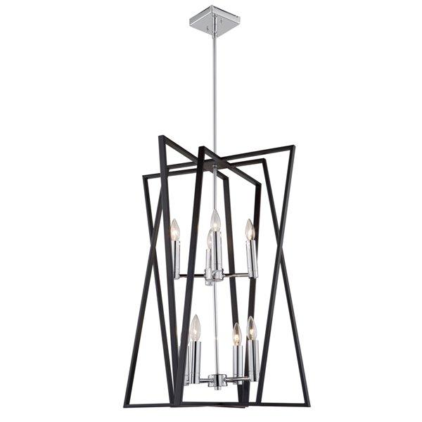 Chandelier à 8 lumières Middleton AC11388 d'Artcraft Lighting, 23 po x 30,5 po, noir mat/chrome