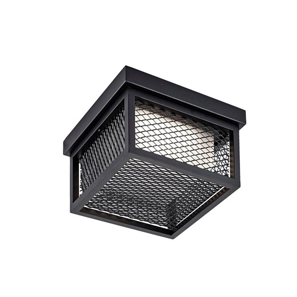 Artcraft Lighting Innovation AC9176BK Outdoor Ceiling Light - 8.75-in x 8.75-in x 4.75-in - Black