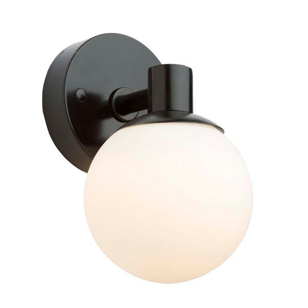 Artcraft Lighting Tilbury AC7091BK 1-Bulb Wall Light - 9-in - Semi Gloss Black