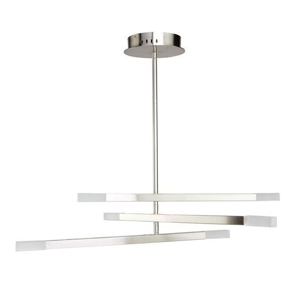 Artcraft Lighting Twig SC13096SN 6-Light Chandelier - 31-in x 7.5-in - Satin Nickel