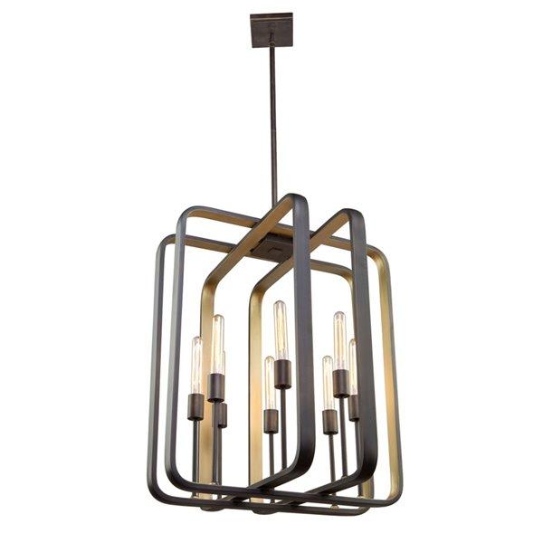 Artcraft Lighting Marlborough AC11083 8-Light Chandelier - 24-in x 28-in - Oil Rubbed Bronze/Gold Leaf
