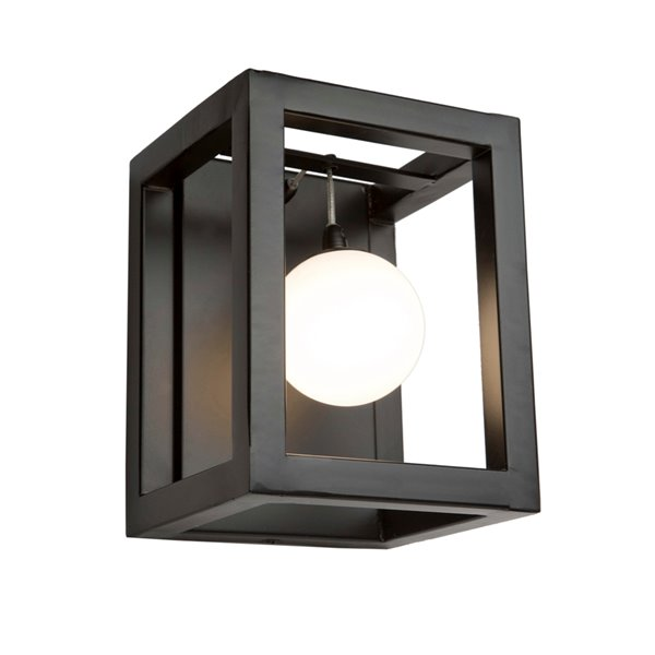 Artcraft Lighting Massey AC6602 1-Bulb Wall Light - 8.25-in - Matte Black