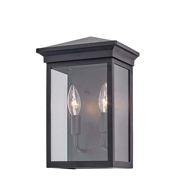 Artcraft Lighting Gable AC8161BK Outdoor Wall Light - 12.25-in - Black