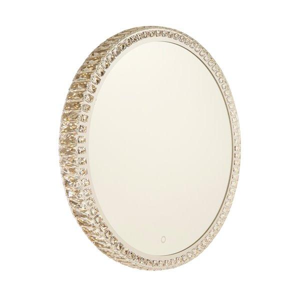 Miroir à éclairage DEL Reflections AM306 d'Artcraft Lighting, 31,5 po x 31,5 po, cristal