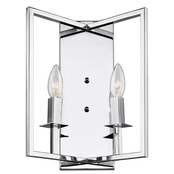 Artcraft Lighting Allston AC10727CH 2-Bulb Wall Light - 14-in - Chrome