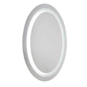 Artcraft Lighting Reflections AM303 LED Mirror - 24-in x 31.5-in - Brushed Aluminum
