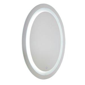 Miroir à éclairage DEL Reflections AM303 d'Artcraft Lighting, 24 po x 31,5 po, aluminium brossé