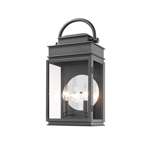 Artcraft Lighting Fulton AC8231BK Outdoor Wall Light - 18.5-in - Black