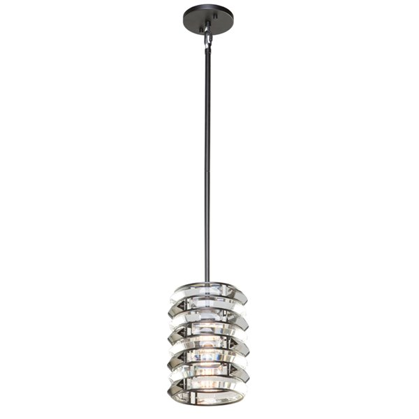 Artcraft Lighting Vero AC11261 1-Light Pendant - 6-in x 9-in - Black