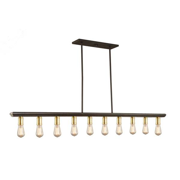 Artcraft Lighting Sandalwood AC11351SB Kitchen Island Light - 10 -Light - Brass